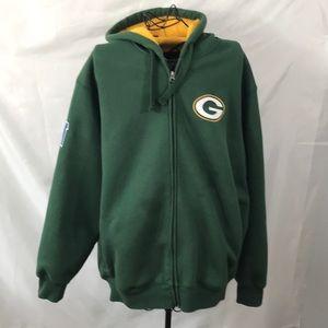 Green Bay Packers zip up hoodie jacket